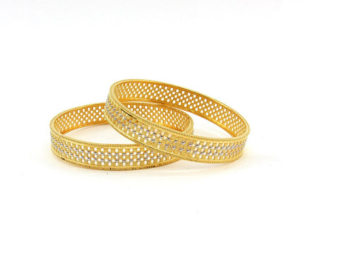 32.20g 22Kt Gold Stackable Bangle Set (Sz: 6)