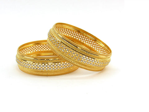 46.70g 22Kt Gold Stackable Bangle Set (Sz: 6)