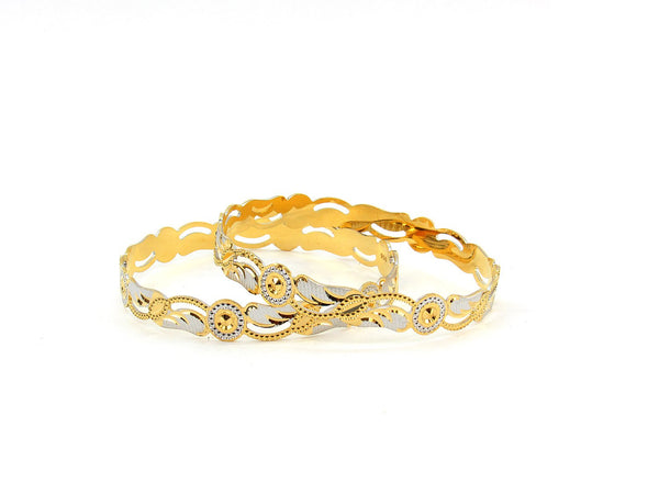 34.70g 22Kt Gold Stackable Bangle Set (Sz: 6)