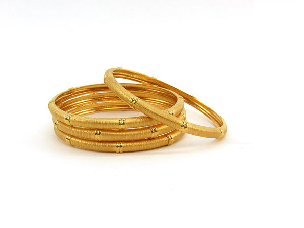 52.55g 22Kt Gold Stackable Bangle Set (Sz: 6)