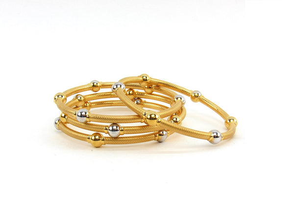 51.00g 22Kt Gold Stackable Bangle Set (Sz: 6)