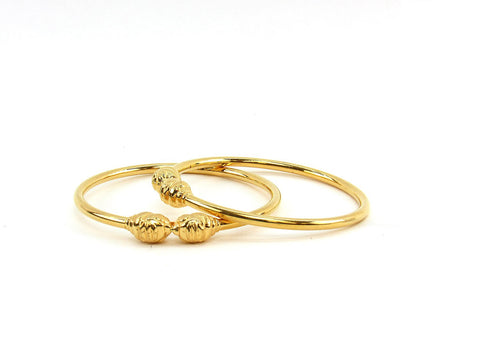 26.75g 22Kt Gold Stackable Bangle Set (Sz: 5)