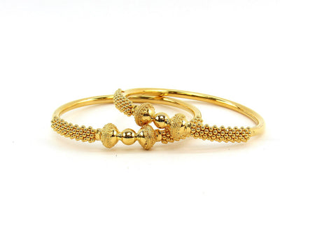 38.85g 22Kt Gold Stackable Bangle Set (Sz: 5)