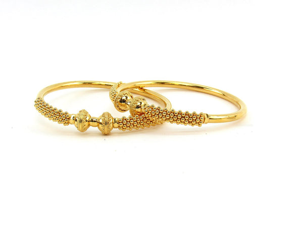 38.90g 22Kt Gold Stackable Bangle Set (Sz: 6)