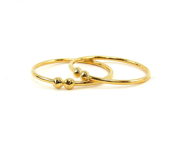 21.85g 22Kt Gold Stackable Bangle Set (Sz: 6)