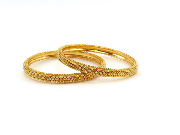 43.25g 22Kt Gold Stackable Bangle Set (Sz: 4)