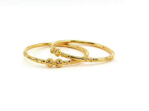 23.80g 22Kt Gold Stackable Bangle Set (Sz: 5)