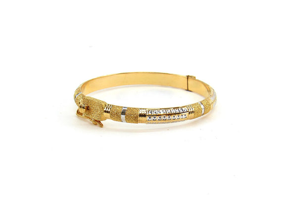 17.10g 22Kt Gold Bracelet Bangle Set (Sz: 4)
