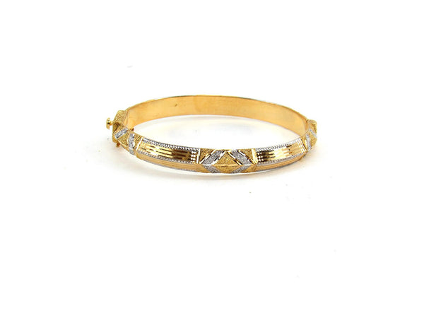 17.60g 22Kt Gold Bracelet Bangle Set (Sz: 4)