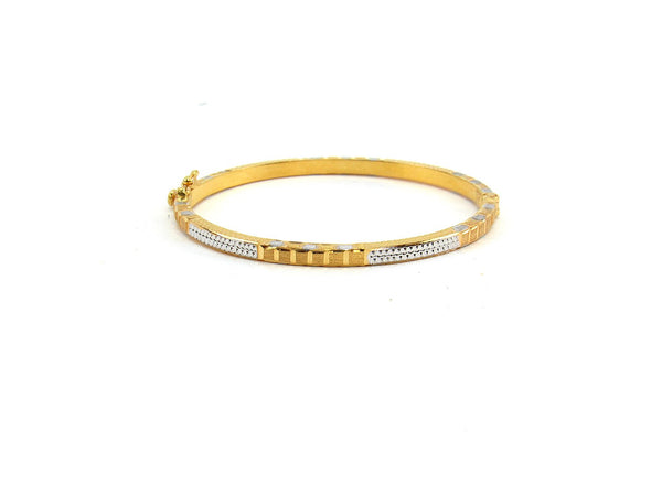 10.80g 22Kt Gold Bracelet Bangle Set (Sz: 4)