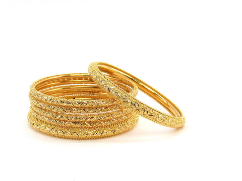 108.40g 22Kt Gold Stackable Bangle Set (Sz: 8)