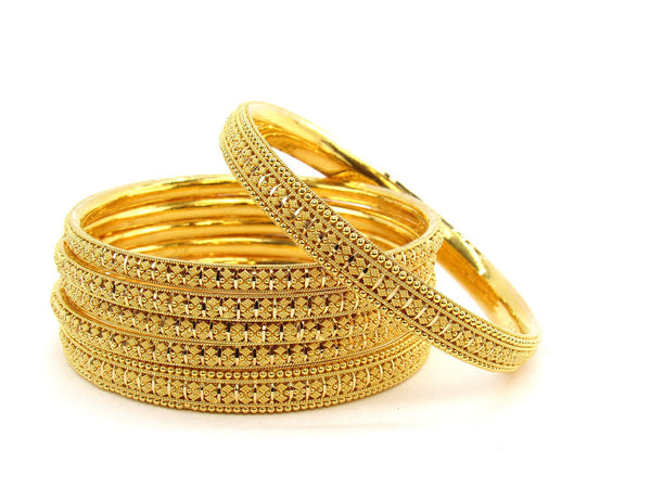 103.95g 22Kt Gold Stackable Bangle Set (Sz: 10)