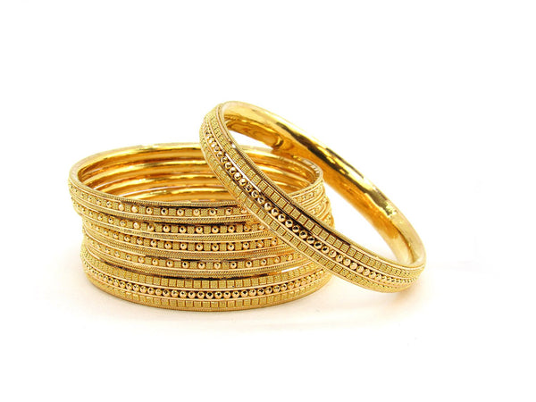 83.20g 22Kt Gold Stackable Bangle Set (Sz: 4)