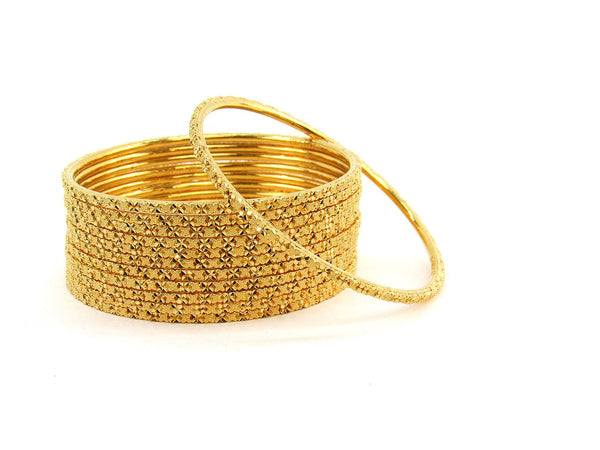 113.80g 22Kt Gold Stackable Bangle Set (Sz: 6)