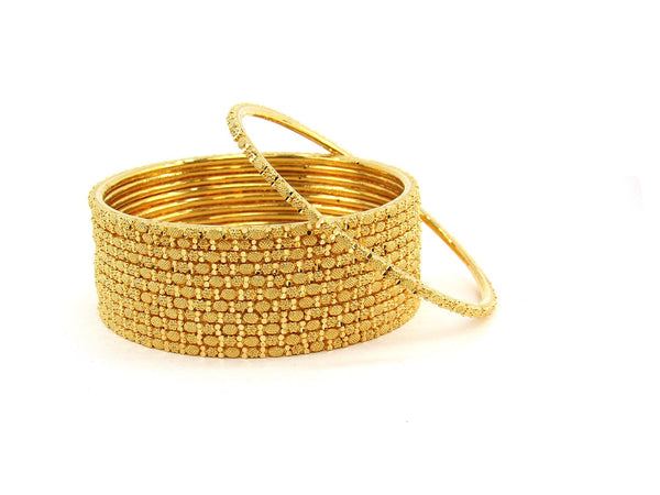 113.50g 22Kt Gold Stackable Bangle Set (Sz: 6)