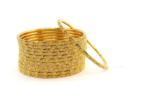 103.80g 22Kt Gold Stackable Bangle Set (Sz: 4)