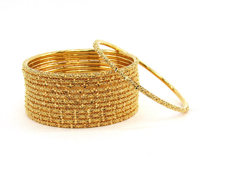 109.40g 22Kt Gold Stackable Bangle Set (Sz: 5)