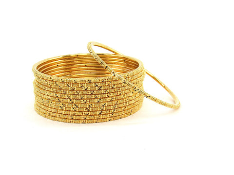 104.80g 22Kt Gold Stackable Bangle Set (Sz: 4)