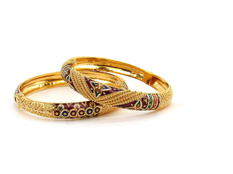 49.30g 22Kt Gold Yellow Bangle Set (Sz: 5)