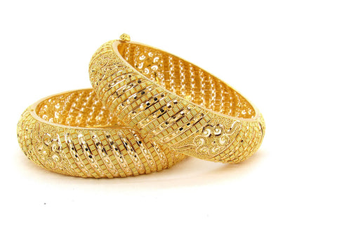 79.00g 22Kt Gold Yellow Bangle Set (Sz: 5)