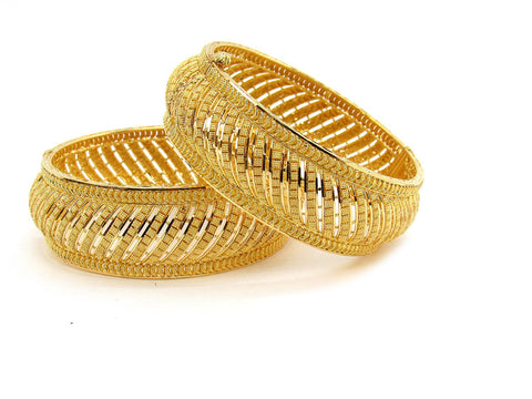 76.40g 22Kt Gold Yellow Bangle Set (Sz: 5)
