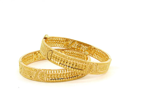 50.90g 22Kt Gold Yellow Bangle Set (Sz: 5)