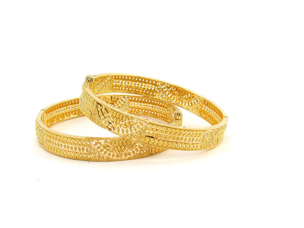 40.20g 22Kt Gold Yellow Bangle Set (Sz: 5)
