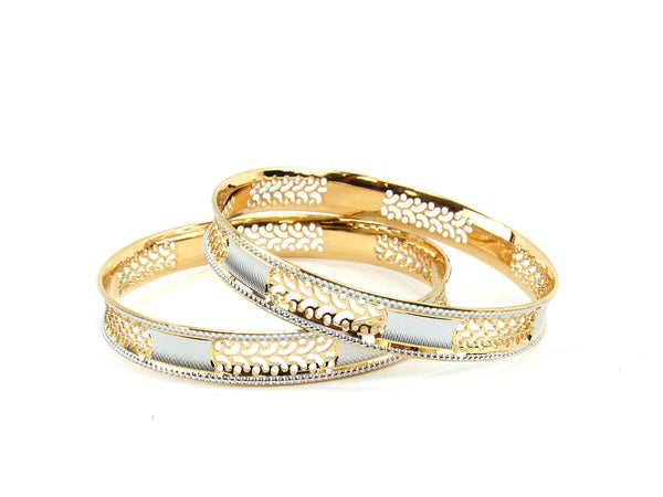 40.53g 22Kt Gold Lazer Bangle Set (Sz: 4)