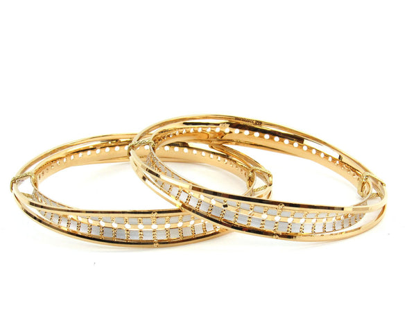 51.37g 22Kt Gold Lazer Bangle Set (Sz: 6)