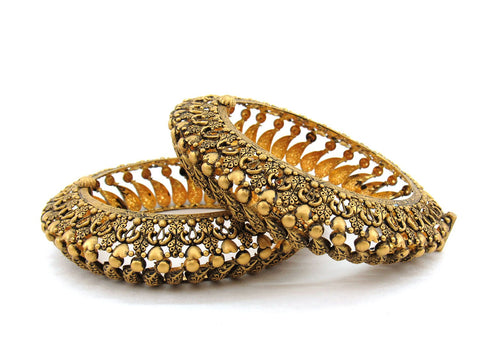 83.60g 22Kt Gold Antique Bangle Set (Sz: 5)