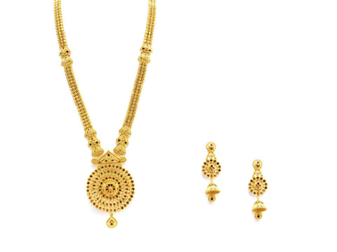105.95g 22Kt Gold Haar Necklace Set - 2324