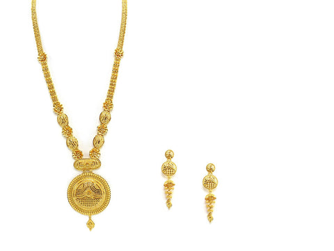 86.60g 22Kt Gold Haar Necklace Set - 2325