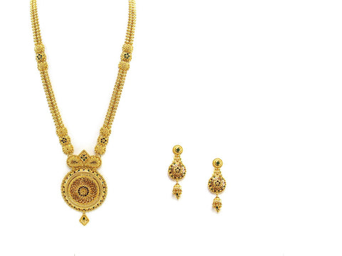85.50g 22Kt Gold Haar Necklace Set - 2327