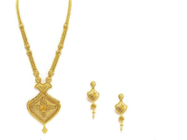 99.85g 22Kt Gold Haar Necklace Set - 2328
