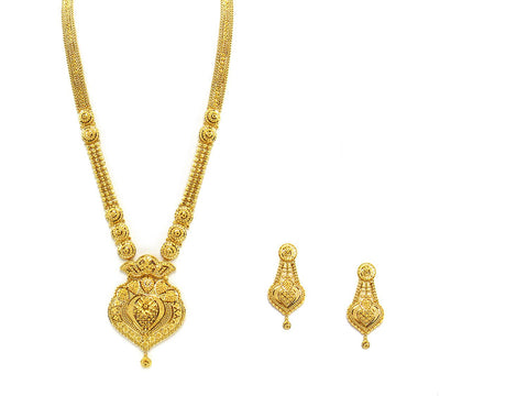 75.80g 22Kt Gold Haar Necklace Set - 2329