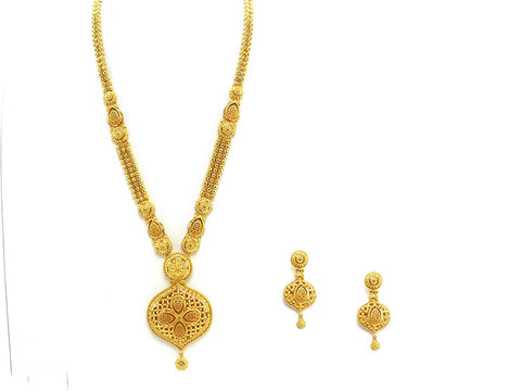 80.15g 22Kt Gold Haar Necklace Set - 2331