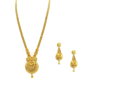 56.50g 22Kt Gold Haar Necklace Set - 2334
