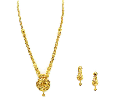 47.80g 22Kt Gold Haar Necklace Set - 2335