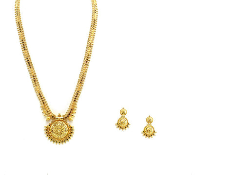 46.50g 22Kt Gold Haar Necklace Set - 2336