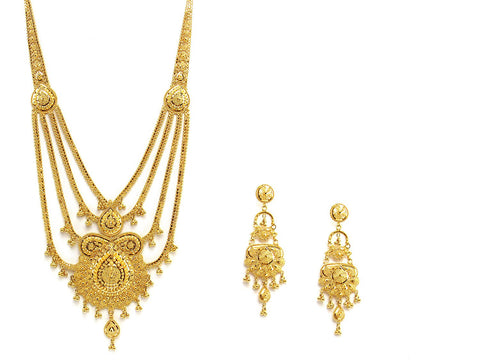 69.50g 22Kt Gold Haar Necklace Set - 2337