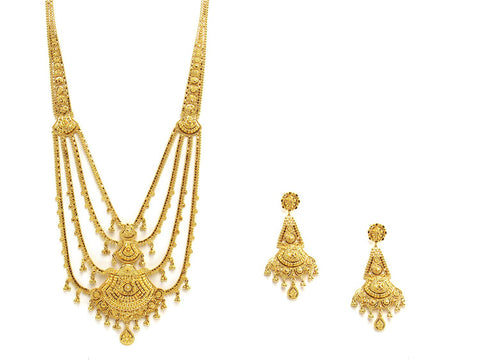 78.10g 22Kt Gold Haar Necklace Set - 2338