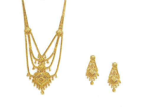 66.20g 22Kt Gold Haar Necklace Set - 2339