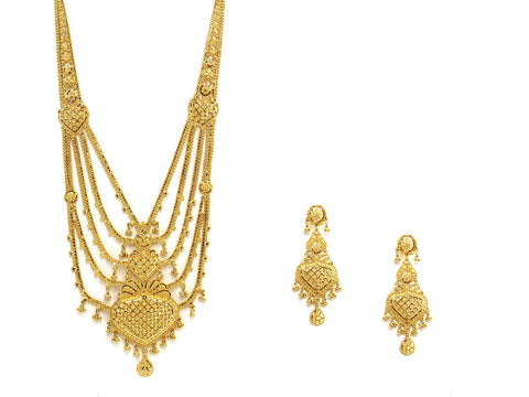 74.20g 22Kt Gold Haar Necklace Set - 2340
