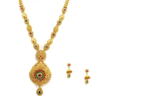 75.60g 22Kt Gold Haar Necklace Set - 2341