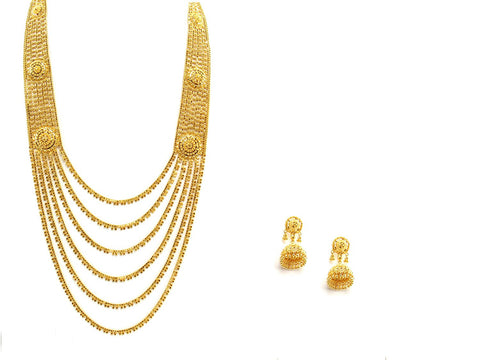 83.80g 22Kt Gold Haar Necklace Set - 2342