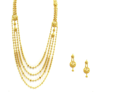 74.90g 22Kt Gold Haar Necklace Set - 2343