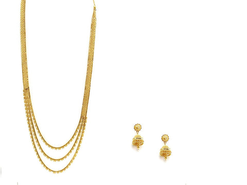 83.80g 22Kt Gold Haar Necklace Set - 2344