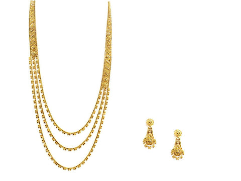49.70g 22Kt Gold Haar Necklace Set - 2345