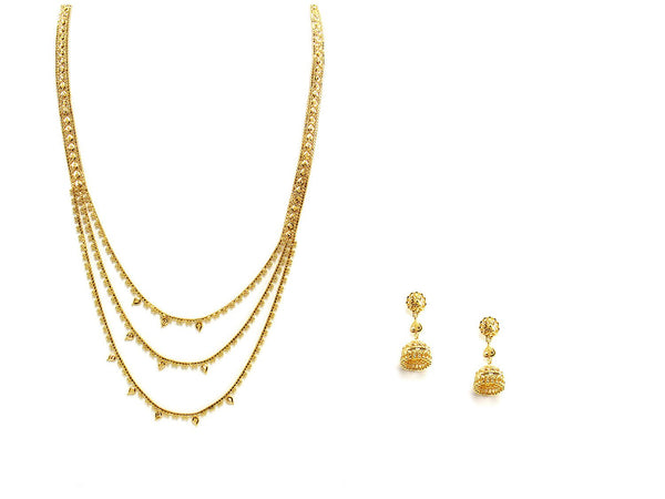 52.40g 22Kt Gold Haar Necklace Set - 2346