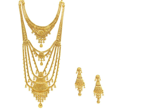 112.70g 22Kt Gold Haar Necklace Set - 2347